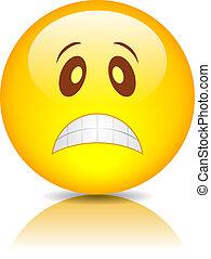 Sad vector emoticon