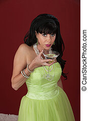 Sad Woman With Martini