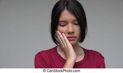Sad Worried Female Child