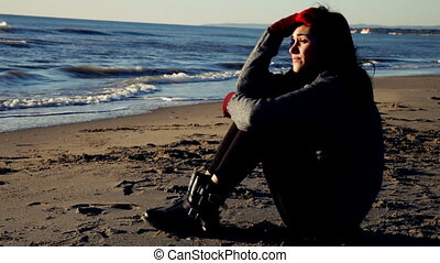 Sad young woman feeling lonely