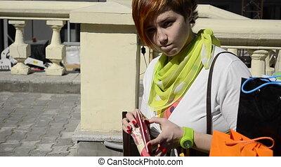 sad young woman, looking