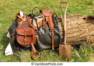 Saddle - Authentic Civil War era horse saddle.