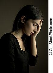 Sadness – depressed teen girl