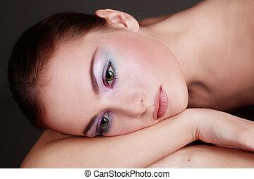 Sadness - Portrait of beautiful sad woman with professional ...