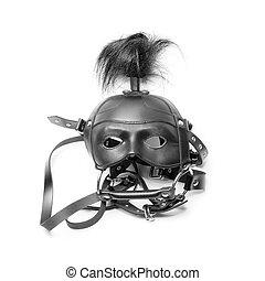 sadomasochism mask isolated on a white background