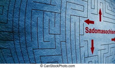 Sadomasochism maze concept