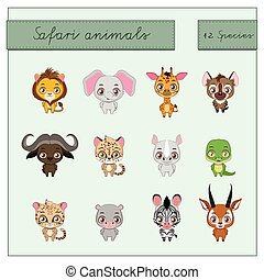 Safari animals collection