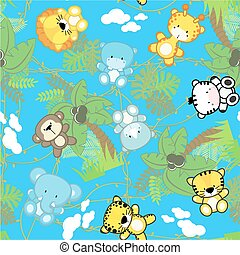safari baby animals seamless