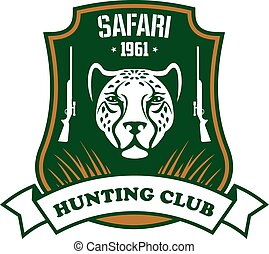 safari, caza, deporte, club, señal
