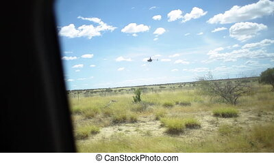 Safari desert helicopter - A shot of a helicopter from...