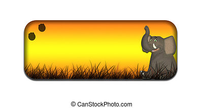 Safari Elephant Banner