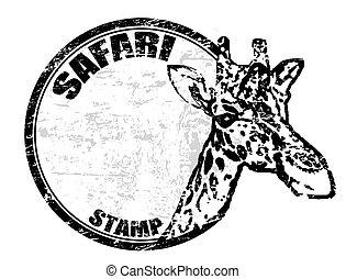 safari, estampilla