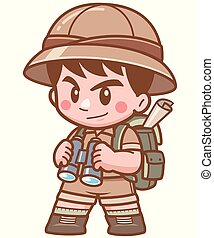 safari, garçon
