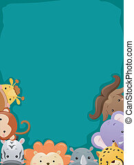 Safari Heads Background