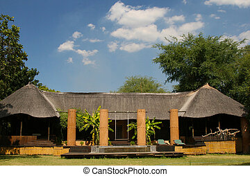 Safari Lodge - A view of the Luangwa River Lodge in the ...