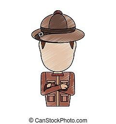 safari man  vector illustration
