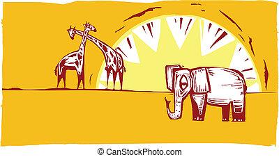 Safari scene #1