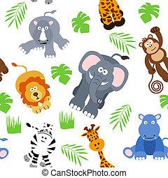 safari, seamless, achtergrond