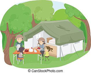 safari, tenda