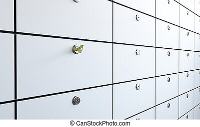 safe bank and key