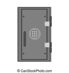 Safe banking object investment vector icon lock box. Security treasure money vault. Trust deposit flat symbol