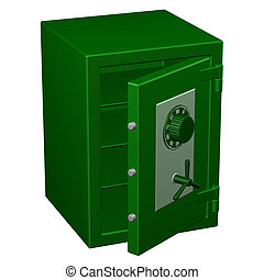 Safe box. 3D rendering.