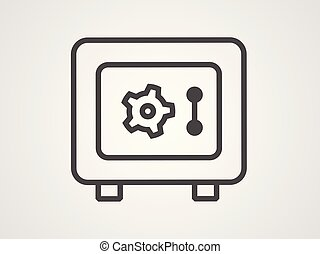 Safe box vector icon sign symbol