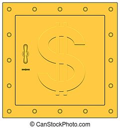 Safe box.eps - Safe box icon with the dollar sign