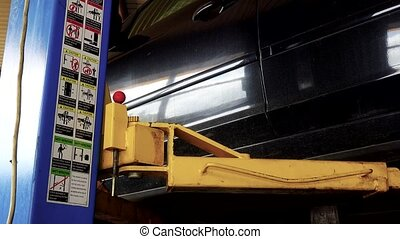 safe car lift elevator in garage and safety pictures and...