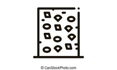 safe climbing wall Icon Animation. black safe climbing wall animated icon on white background
