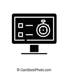 Safe data black icon, concept illustration, vector flat symbol, glyph sign.