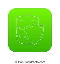 Safe database icon green