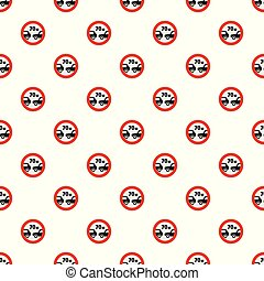 Safe distance pattern seamless in flat style for any design