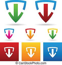 Safe Download Icon - vector illustration of a safe download...