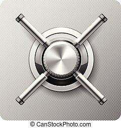 Safe handle wheel - vault door of strongbox rotary valve