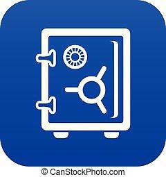 Safe icon blue vector