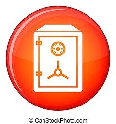 Safe icon, flat style