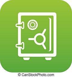 Safe icon green vector