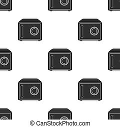 Safe icon in black style isolated on white background. Hotel pattern stock vector illustration.