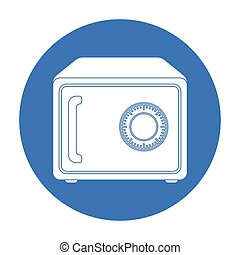 Safe icon in black style isolated on white background. Hotel symbol stock vector illustration.