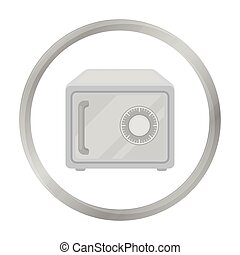 Safe icon in monochrome style isolated on white background. Hotel symbol stock vector illustration.