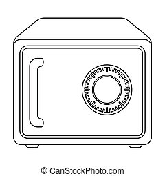 Safe icon in outline style isolated on white background. Hotel symbol stock vector illustration.