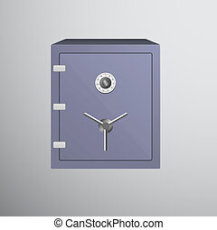Safe icon isolated on dark background