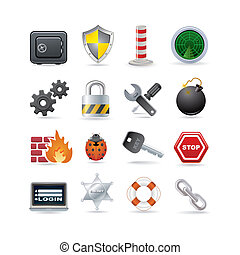safe - Illustration of security icon set