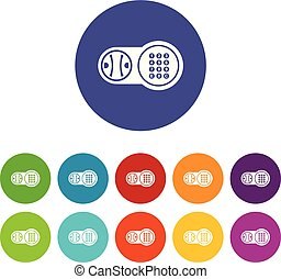 Safe key lock icons set vector color