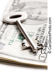 safe key with money