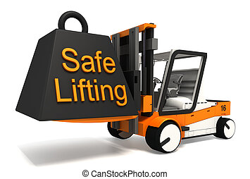safe lifting sign black weight - safe lifting sign weight on...