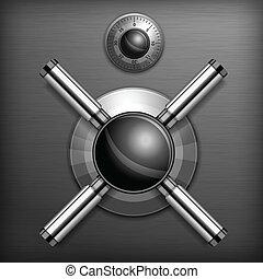 Safe lock background - Safe combination lock wheel...