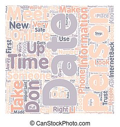 Safe Online Practices text background wordcloud concept