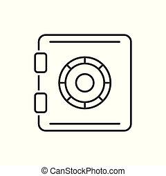 Safe outline icon